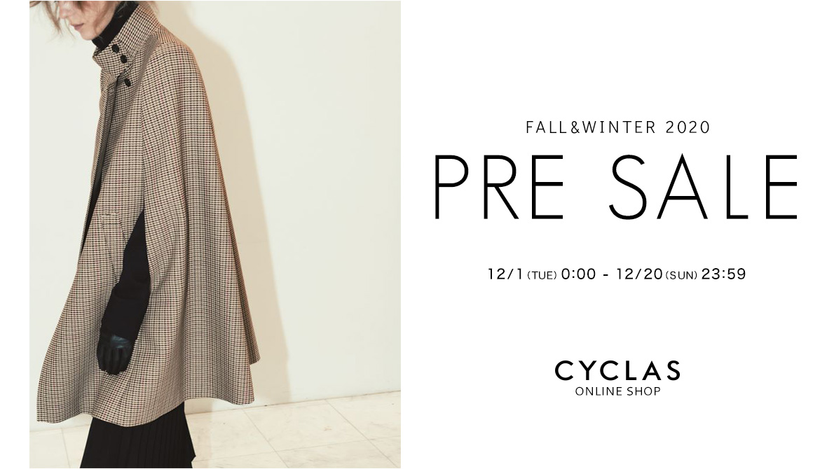 CYCLAS<br/>ONLINE SHOP<br/>プレセール開催のお知らせ