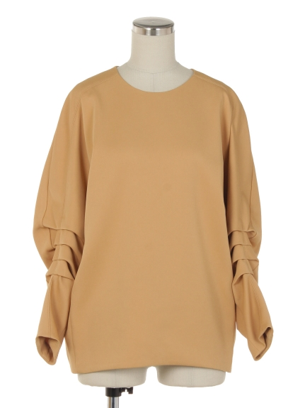 シクラス(CYCLAS)のVIS STRETCH GATHERD SLEEVE TOP ブラウス