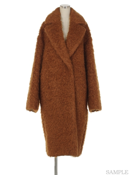 シクラス(CYCLAS)のMOHAIR SHAGGY WIDE COLOR COAT ウールコート