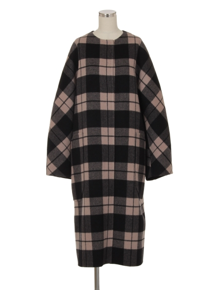 シクラス(CYCLAS)のWOL/CASH PLAID NO COLLAR COAT ウールコート