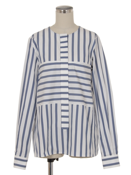シクラス(CYCLAS)のCYC/ CTN/SLK ICONIC STRIPE SHIRT ブラウス