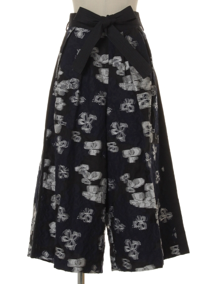 シクラス(CYCLAS)のSC/ CUT JACQUARD FLOWER PANTS ワイドパンツ