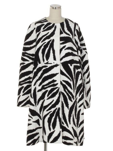 シクラス(CYCLAS)のCYC/ FULL ZEBRA PATTERN EMBROIDERY COAT スプリングコート