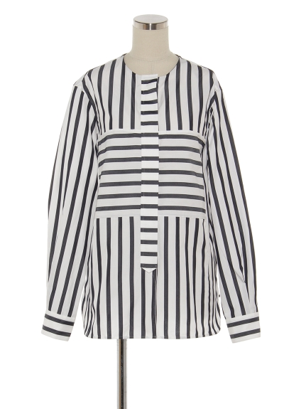シクラス(CYCLAS)のCTN SLK ICONIC STRIPE SHIRT シャツ