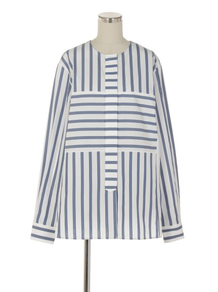 シクラス(CYCLAS)のCTN/SLK ICONIC STRIPE SHIRT シャツ