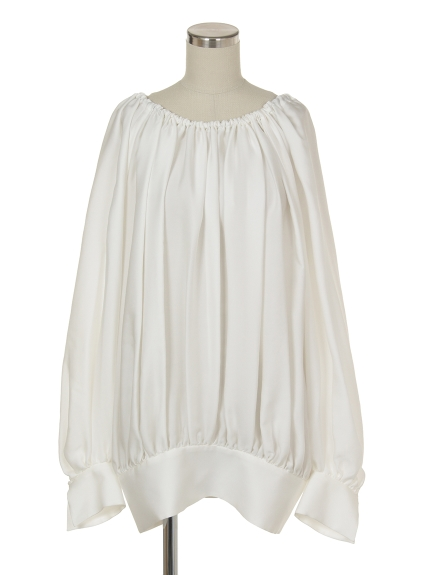 シクラス(CYCLAS)のSLK SATIN GEORGETTE GATHERED BLOUSE ブラウス
