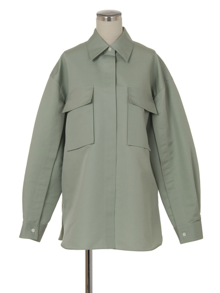 シクラス(CYCLAS)のCTN/SLK SATIN REGULAR SHIRT シャツ