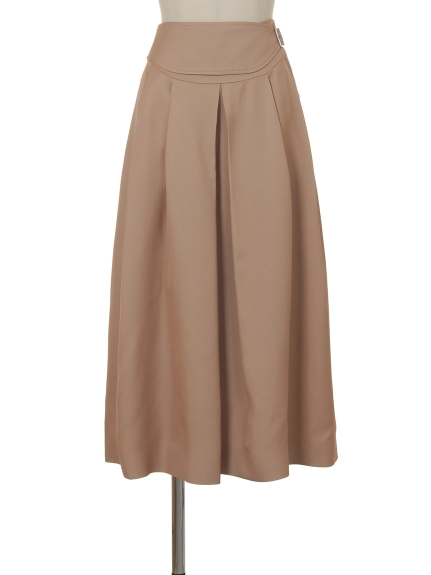 シクラス(CYCLAS)のVIS TWILL SEMI-FLAIR TUCK SKIRT フレアスカート