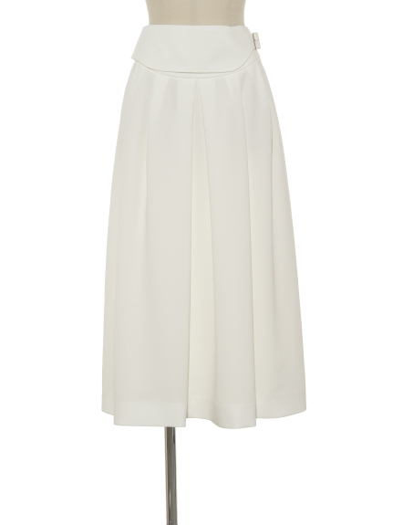 シクラス(CYCLAS)のHIGH TWIST TRI/PE BELTED SKIRT 膝丈スカート