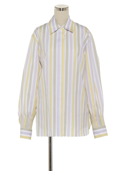 シクラス(CYCLAS)のCTN/SLK MULTI COLOR STRIPE SHIRT シャツ