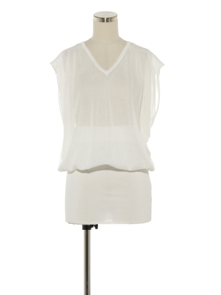 シクラス(CYCLAS)のCTN/NY LAYERED NO SLEEVE TOP ニット