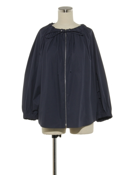 シクラス(CYCLAS)のCTN POPLIN STR GATHERED BLOUSE ブラウス