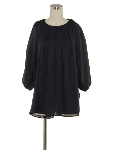 シクラス(CYCLAS)のSLK SATIN GATHERED NECK BLOUSE ブラウス