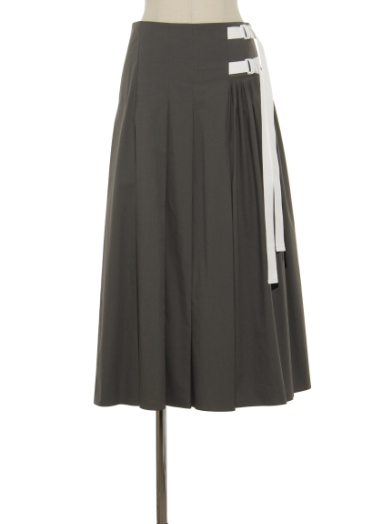 シクラス(CYCLAS)のCTN POPLIN ASYMETRY FLAIR SKIRT フレアスカート